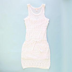 Victoria's Secret Crochet Midi White Dress Size L